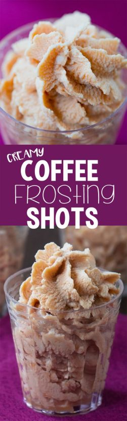 coffee frosting shots